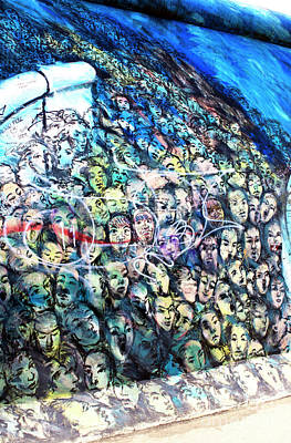 Photograph - Berlin Wall Faces by John Rizzuto