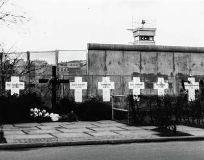 Photograph - Berlin Wall Memorial Crosses by SR Green