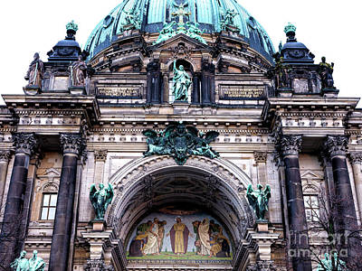 Photograph - Berliner Dom Facade by John Rizzuto