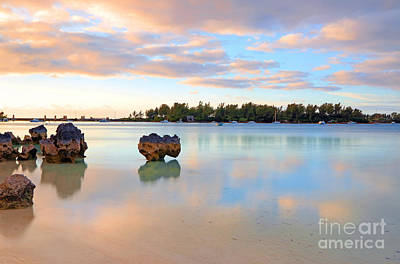 Photograph - Bermuda Beach Sunset Reflections by Charline Xia