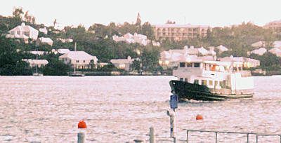 Photograph - Bermuda Ferry Arriving by Ian  MacDonald
