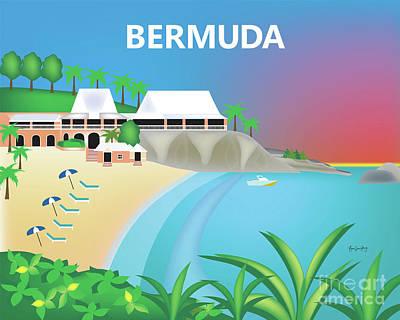 Bermuda Horizontal Scene Art Print