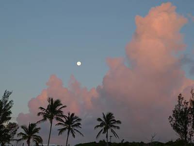 Bermuda Morning Moon Art Print by Richard Reeve