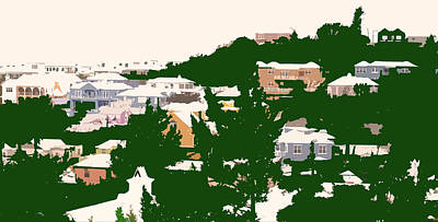 Bermuda Neighborhood Print by Ian  MacDonald