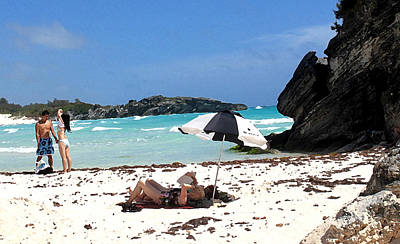 Bermuda On The Beach Print by Ian  MacDonald