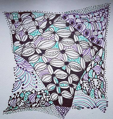 Drawing - Bermuda Triangle by Carole Brecht