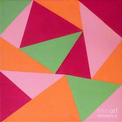 Bermuda Triangles Art Print by Jilian Cramb - AMothersFineArt