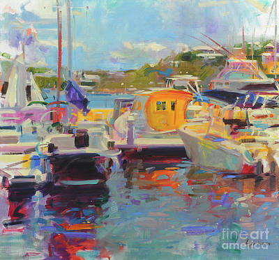 Painting - Bermuda Yachts by Peter Graham