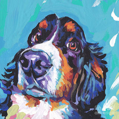 Bernese Mountain Dog Painting - Bern Baby Bern by Lea S
