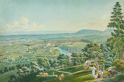 Switzerland Painting - Bern From The South by Jakob Weibel