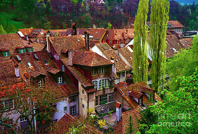 Photograph - Bern Switzerland Roof Tops  3460600120 by Tom Jelen