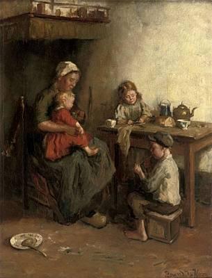 Meal Painting - Bernard De Hoog by A frugal meal
