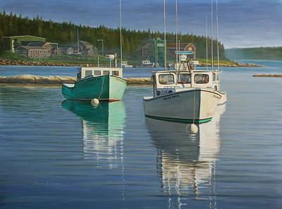 Bernard Harbor Art Print by Bruce Dumas