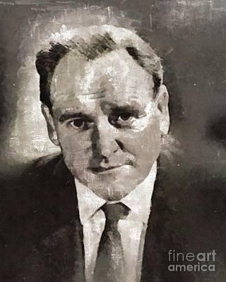 Bernard Lee, Actor Art Print by Mary Bassett