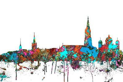Digital Art - Berne Switzerland Skyline by Marlene Watson