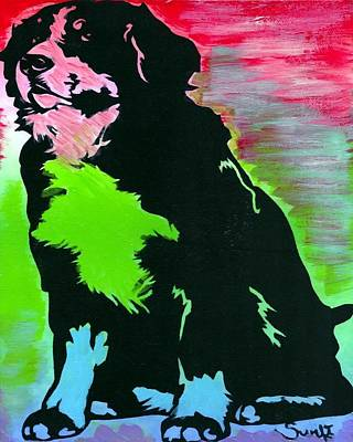 Bernese Mountain Dog Painting - Bernese Mountain Dog by Char Swift