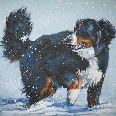 Painting - Bernese Mountain Dog In Drift by Lee Ann Shepard