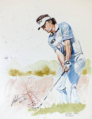 Golfer Painting - Bernhard Langer by Mark Robinson