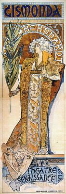 Photograph - Bernhardt: Mucha Poster by Granger