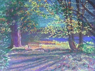 Pastel - Bernheim Evening Light  by Susan Brooks
