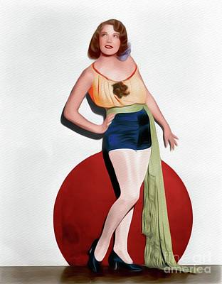 Painting - Bernice Claire, Vintage Movie Star by John Springfield