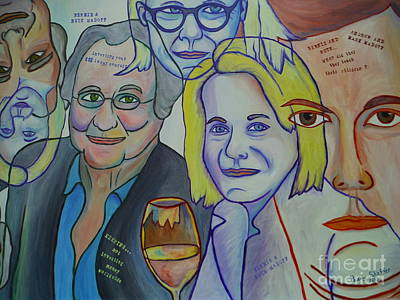 Bernie Parent Painting - Bernie And Ruth Madoff by Paddy Shaffer