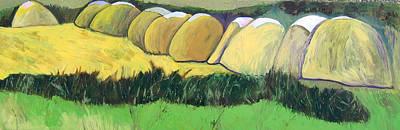 Painting - Bernie Haystacks by Kathleen Barnes
