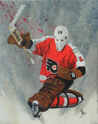 Stanley Cup Painting - Bernie Parent by William Boehmer