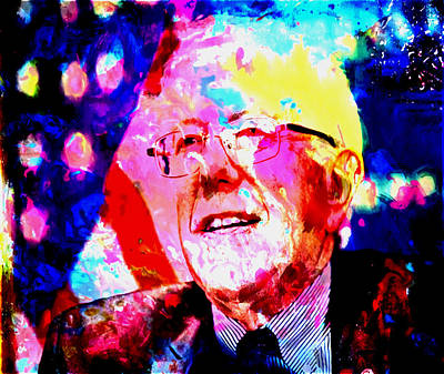 George Bush Mixed Media - Bernie Sanders by Brian Reaves