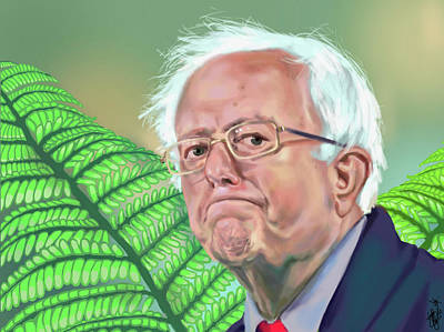 Liberal Painting - Bernie Sanders by Brittany Zagoria