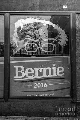 Storefront Photograph - Bernie Sanders Claremont New Hampshire Headquarters by Edward Fielding