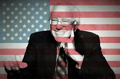 Civil Liberties Mixed Media - Bernie Sanders by Dan Sproul