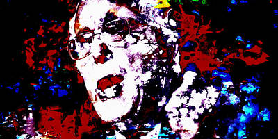 George Bush Mixed Media - Bernie Sanders Paint Splatter 2a by Brian Reaves