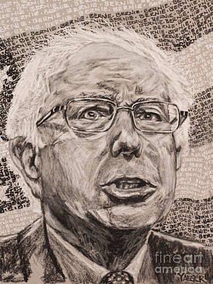 Senator Mixed Media - Bernie Sanders Portrait by Robert Yaeger