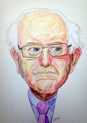 Hillary Clinton Painting - Bernie Sanders by Scott Emerling