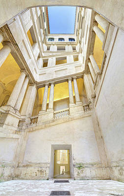 Photograph - Bernini Staircase Panorama by Weston Westmoreland