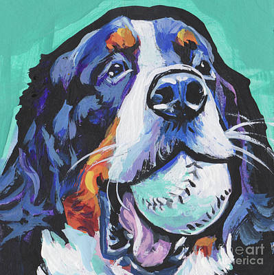 Bernese Mountain Dog Painting - Berny Ball Throw by Lea