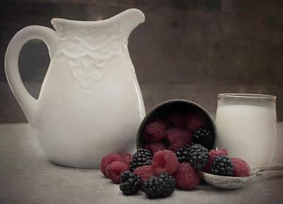 Photograph - Berries And Cream by Teresa Wilson