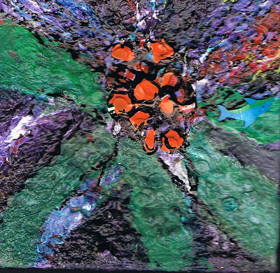 Berries Bursting Bright Art Print by Anne-Elizabeth Whiteway
