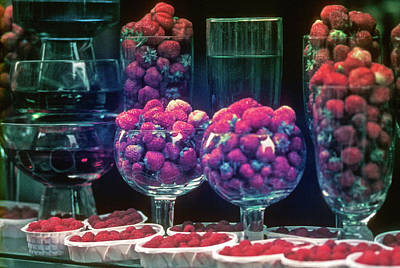 Berries In The Window Art Print
