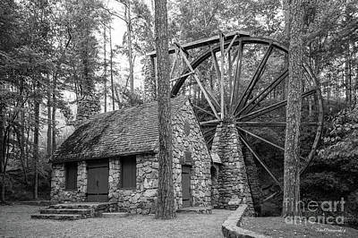 Photograph - Berry College Old Mill Wheel by University Icons