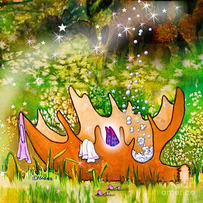 The Trees Mixed Media - Berry Fairy Bubble Bath by Teresa Ascone