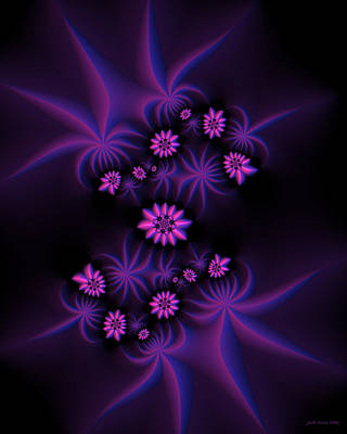 Digital Art - Berry Flowers Fractal by Judi Suni Hall
