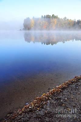 Berry Lake In The Fog Art Print by Terri Gostola