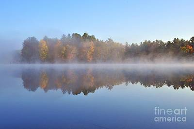 Weather Photograph - Berry Lake In Wexford County Michigan by Terri Gostola