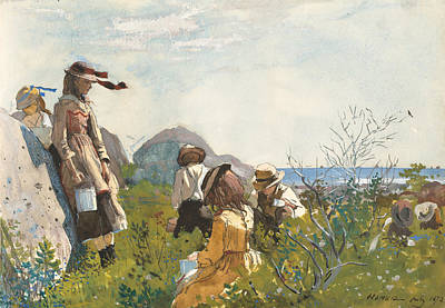 Painting - Berry Pickers by Winslow Homer