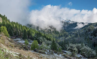 Photograph - Berry Summit Winter Panorama by Greg Nyquist