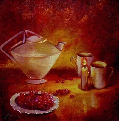 Teapot Painting - Berry Tea by Marina Wirtz