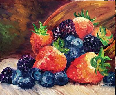 Painting - Berrylove  by Irene Pomirchy