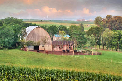 Cows Mixed Media - Berrysburg Farm by Lori Deiter